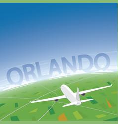Orlando flight destination vector