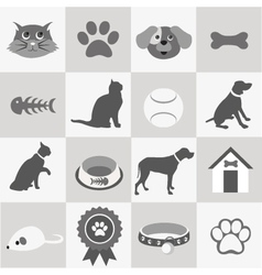 Pet icon set vector image vector image