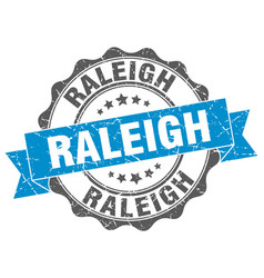 Raleigh round ribbon seal vector