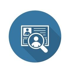 Recruitment Icon Business Concept Flat Design vector image