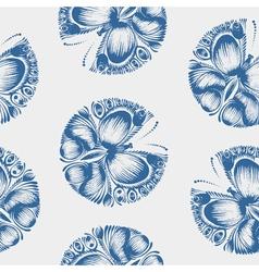 Seamless pattern butterfly vector