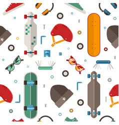 skateboard pattern background vector image vector image