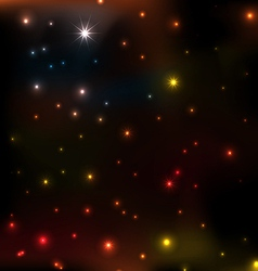 star coloeful background vector image vector image
