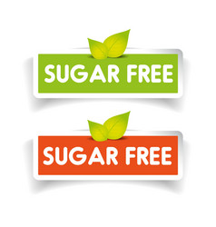 Sugar free label set vector