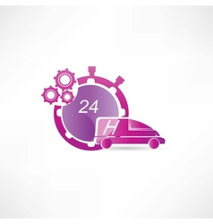 Transport service 24 hours icon vector