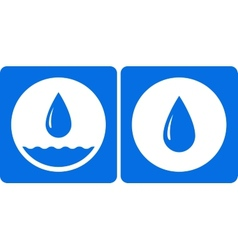 two water droplet icon vector image vector image