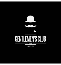 vintage label with gentleman vector image vector image