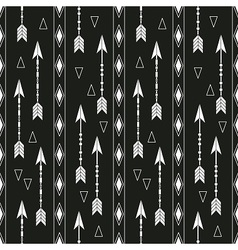 Boho pattern with arrows vector image