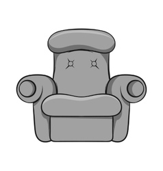 Armchair icon black monochrome style vector