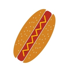 Delicious hot dog fast food icon vector