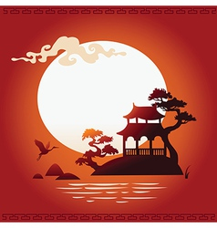 Abstract asian background vector