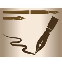 Vintage pen vector image