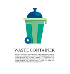 Flat outdoor trash can concept vector