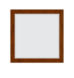 Brown wood border vector