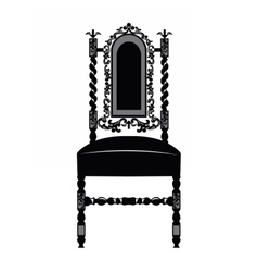 Classic luxury style chair vector