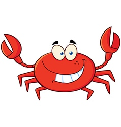 Crab cartoon mascot character vector