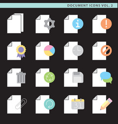 Flat document icons vol 2 vector