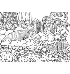 mermaid 8 vector image