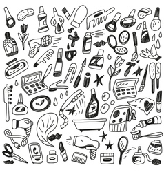 Cosmetic doodles vector