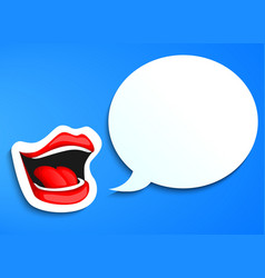 Mouth speaking vector