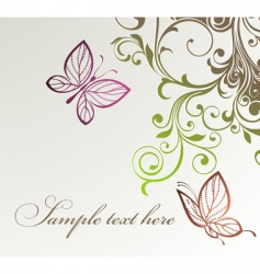 Floral butterflies background vector