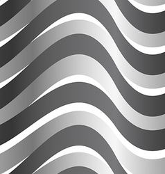 Grey abstract wave in a seamless pattern vector
