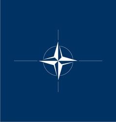 Logo flag of nato vector