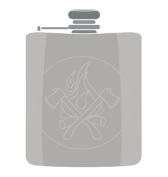 Flask icon no outline vector
