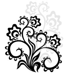 Decorative floral ornament vector