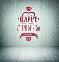 Valentines day wooden background vector