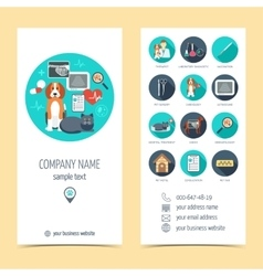 Promotional products for vet clinic flyer vector