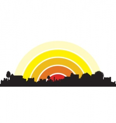 Town silhouette vector