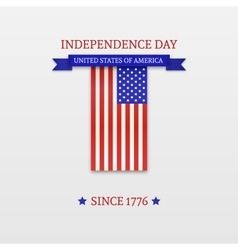 Fourth of july stylish american independence day vector