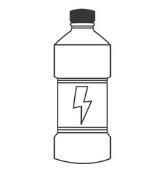 Energy drink bottle icon vector