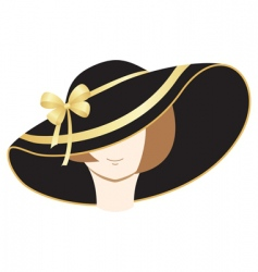 a woman in the bonnet vector image