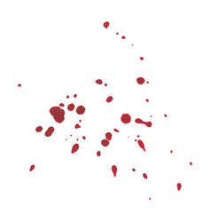 Abstract blood splatter on white background vector
