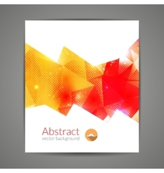 Abstract triangle 3d geometric colorful graphic vector