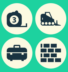 Architecture icons set collection of tractor vector