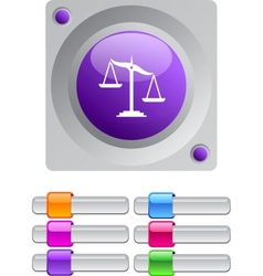 Balance color round button vector image