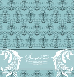 blue floral card vector image