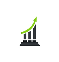 Business finance arrow chart logo 2 vector
