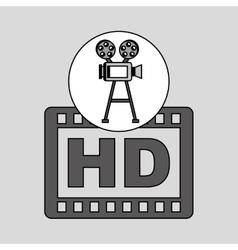 camera film vintage with movie hd vector image