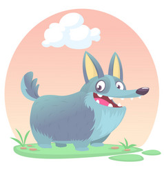 Cardigan welsh corgi dog breed cartoon vector