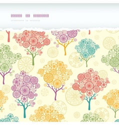 Colorful abstract trees horizontal torn seamless vector image vector image