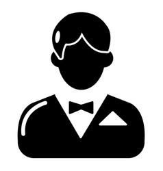 Croupier icon simple black style vector