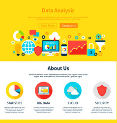 data analysis web design vector image vector image