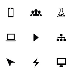 Development 9 icons set vector