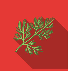 Dill icon in flat style isolated on white vector