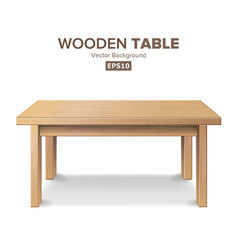Empty wooden table isolated furniture vector