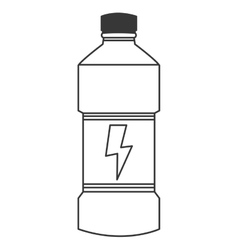 energy drink bottle icon vector image
